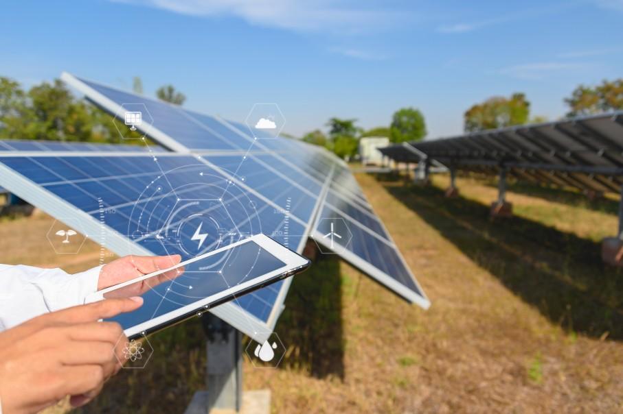 Inšpekcia solárnych panelov